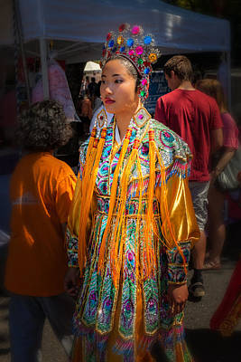Chinese Embroidery Photograph - Pan Asian Festival by Thomas Hall