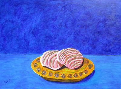 Painting - Pan Dulce Azul by Manny Chapa