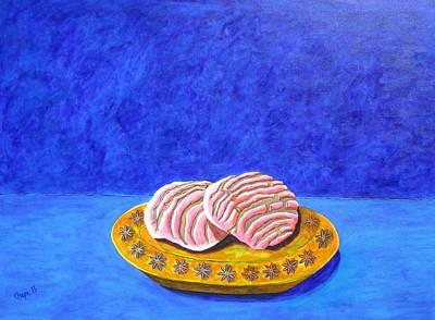 Pan Dulce Azul Art Print