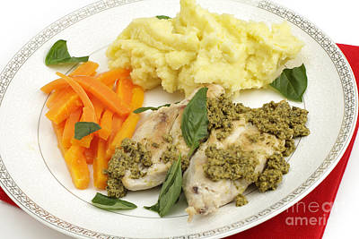 Photograph - Pan Fried Chicken And Pesto by Paul Cowan