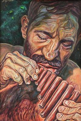 Pan Pipes Painting - Pan by Greg Hester