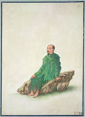 Religious Drawings Photograph - Pan Gu by British Library