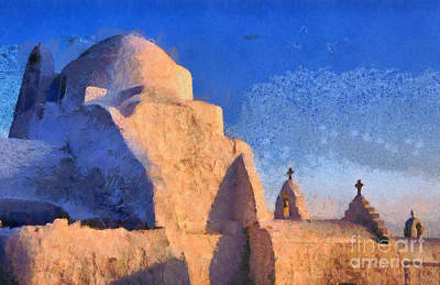 Painting - Panagia Paraportiani Church In Mykonos Island by George Atsametakis