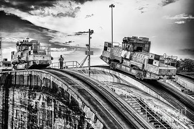 Photograph - Panama Canal Electric Mules by Rene Triay Photography