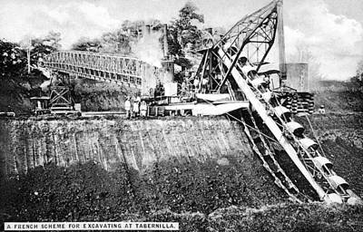 Panama Canal French Work Art Print by Granger