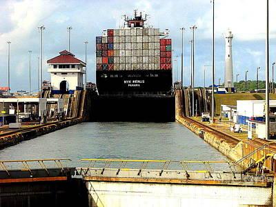 Photograph - Panama Canal Scene by John Potts
