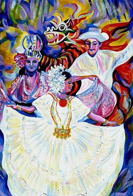 Panama Carnival. Fiesta Art Print by Anna  Duyunova