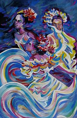 Panama Carnival. Folk Dancers Art Print by Anna  Duyunova