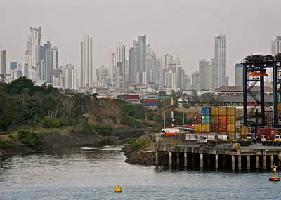 Photograph - Panama City And Loading Docks by Kirsten Giving
