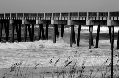 Typography Tees - Panama City Beach Pier by Debra Forand