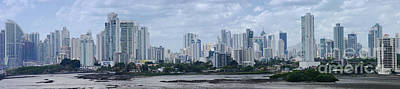 Photograph - Panama City Skyline From The East 1 by Rudi Prott
