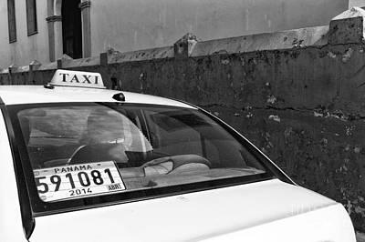 Photograph - Panama City Taxi Mono by John Rizzuto
