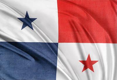Panama Photograph - Panama Flag by Les Cunliffe