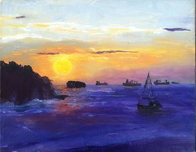 Painting - Panama Sunrise by MaryAnne Ardito