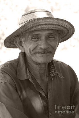 Panamanian Country Man Art Print by Heiko Koehrer-Wagner