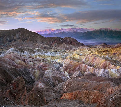 Panamint Valley Photograph - Panamint Range From Zabriskie Point by Tim Fitzharris