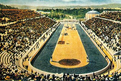 Photograph - Panathenaic Stadium, Olympic Games, 1906 by Science Source
