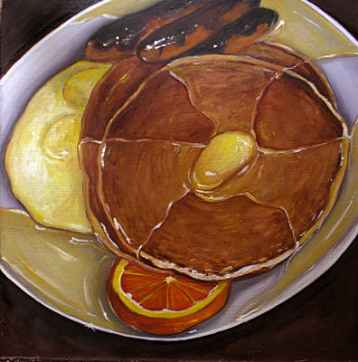 Painting - Pancake And Eggs by Vic Vicini