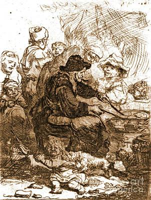 1660 Photograph - Pancake Woman 1660 by Padre Art
