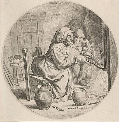 Ceramics Drawing - Pancakes Bakster, Theodor Matham, Frederik De Wit by Theodor Matham And Frederik De Wit