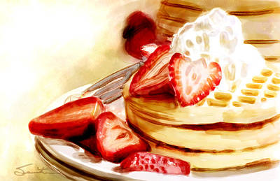 Painting - Pancakes by Robert Smith