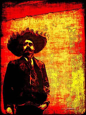 Pancho Villa Art Print by Joan  Minchak