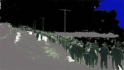 1-war Is Hell Royalty Free Images - Pancho Villas soldiers Villistas retreating into Mexico following attack on Columbus NM 1916  Royalty-Free Image by David Lee Guss