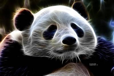 Digital Art - Panda - 4934 - F by James Ahn