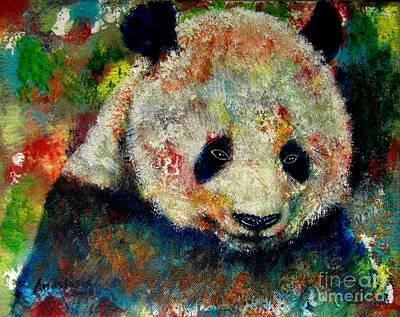 Painting - Panda Bear by Anastasis  Anastasi