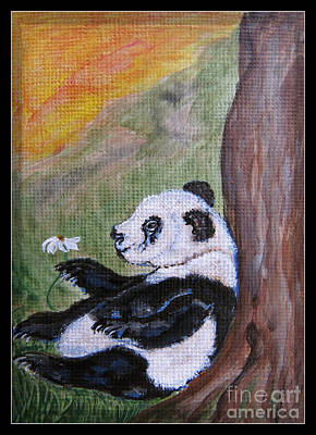 Texas Drawing - Panda - Best Day Ever by Ella Kaye Dickey