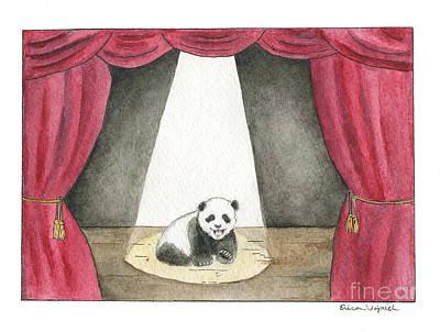 Panda Cub Painting - Panda Cub On Center Stage by Erica Vojnich
