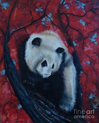 Painting - Panda by Donna Chaasadah