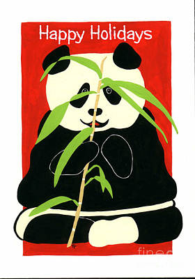Painting - Panda Greetings by Terry Taylor