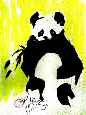 Panda Haiku Art Print by P J Lewis