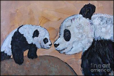 Painting - Panda Love by Ella Kaye Dickey