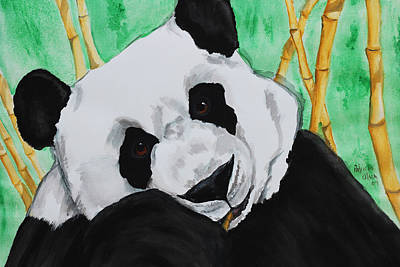 Panda Art Print by Patricia Olson