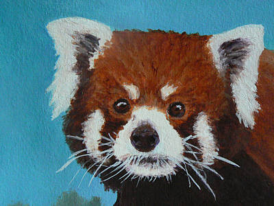Painting - Panda Portrait by Margaret Saheed