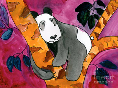 Painting - Panda by Roxanne Hanson Age Eleven