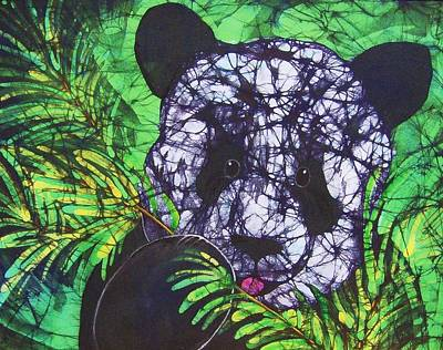 Tapestry - Textile - Panda Snack by Kay Shaffer