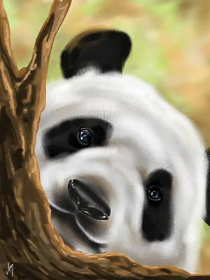 Panda Digital Art - Panda by Veronica Minozzi