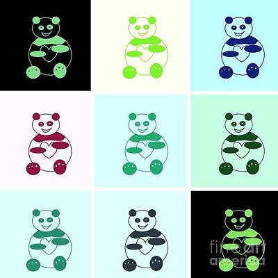 Digital Art - Pandas Pandas Everywhere by Ausra Huntington nee Paulauskaite