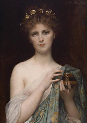 Wall Art - Painting - Pandora by Alexandre Cabanel