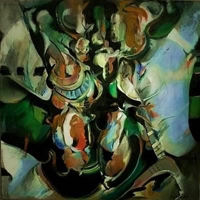 Painting - Pandora - Pandora _ You Evil Wench by John L Campbell