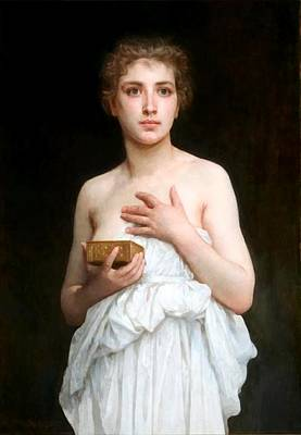 Digital Art - Pandora by William Bouguereau