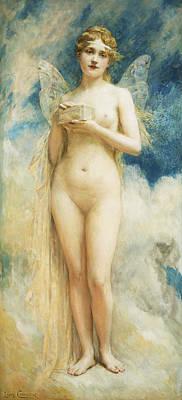 Erotica Painting - Pandora's Box by Leon Francois Comerre
