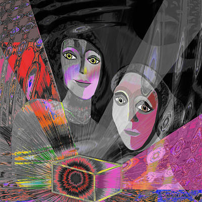 Two Ladies Painting - Pandoras Magical Box - 151 by Irmgard Schoendorf Welch
