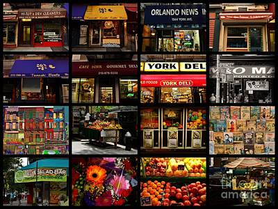 Photograph - Panel - Storefronts Of New York - Delis - Yorkville Upper East Side by Miriam Danar