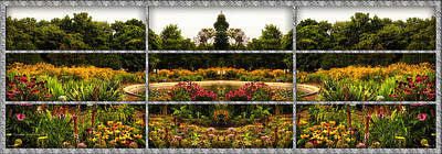 Photograph - Sample Paneled Flower Garden Mirror Image by Thomas Woolworth