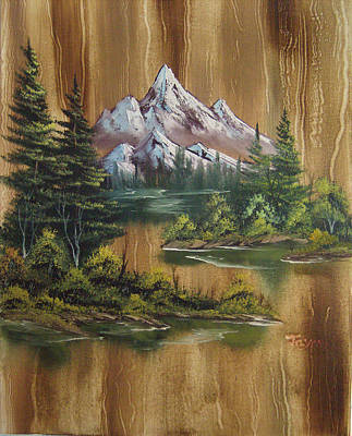 Paneled Mountains Original by Samuel Jaycox