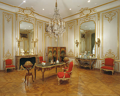 Hardware Painting - Paneled Room Unknown Paris, France by Litz Collection